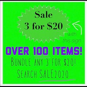 3/$20 GREEN SIGN CLOSET SALE!  3 for $20 mix match